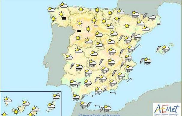 Mañana habrá tormentas fuertes en el mediterráneo andaluz, Ceuta y Valencia