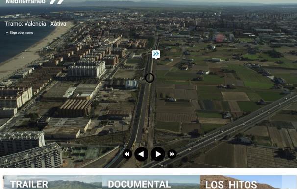 Crean una web para reivindicar el Corredor que permite ver su estado a través de un viaje interactivo en helicóptero