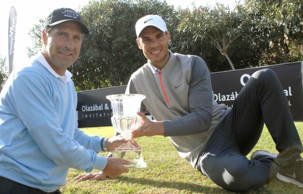 Nadal aventaja a Olazábal en la primera jornada del torneo solidario organizado por ambos deportistas