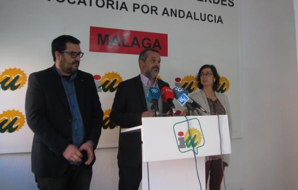IU presenta enmiendas para Málaga en el presupuesto de la Junta por más de 106 millones