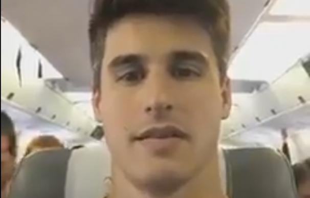 Filipe Machado, ex del Pontevedra, grabó un vídeo en el avión del Chapecoense