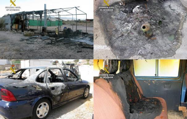 Detenido un individuo por causar hasta 50 incendios en el casco urbano de Totana