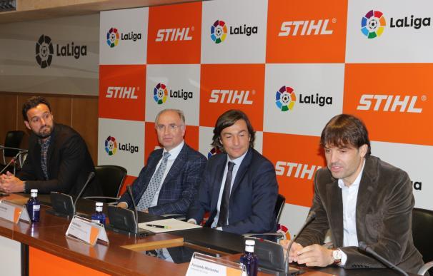 Morientes y Kiko apadrinan al acuerdo de STIHL como patrocinador oficial de LaLiga