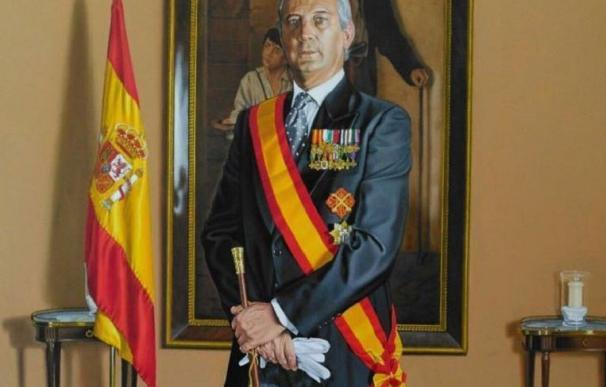 Retrato de Fernández de Mesa como director de la Guardia Civil.