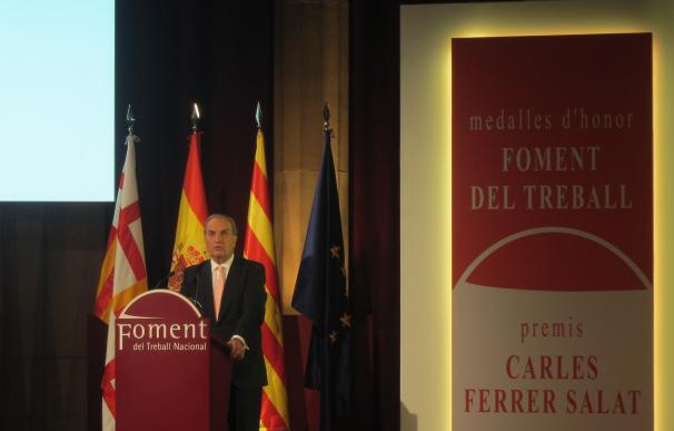 """Gay de Montellà (Fomento del Trabajo) dice que los retos de España son """"recuperar Cataluña"""" y el déficit"""