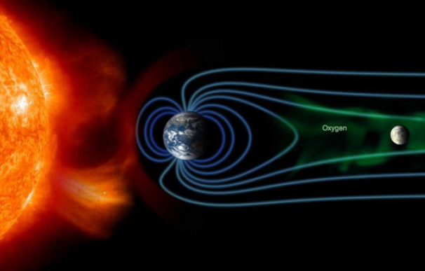 Prueban el oxígeno de la Tierra llega hasta la Luna