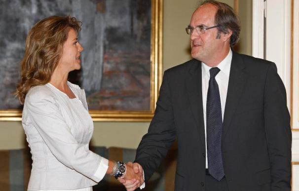 Reunión entre De Cospedal y Gabilondo.