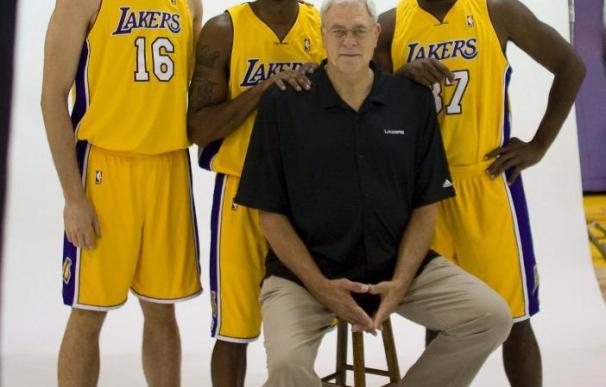 Odom y Artest acaparan la atención; Bryant, Gasol y Jackson, se divierten