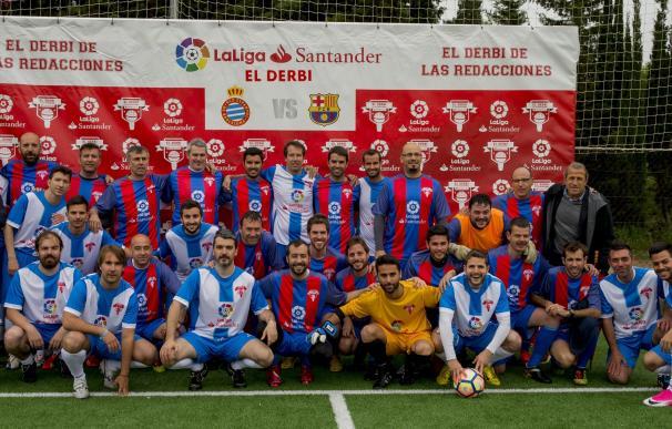 El RCD Espanyol supera al FC Barcelona en el Derbi de las Redacciones de LaLiga Santander