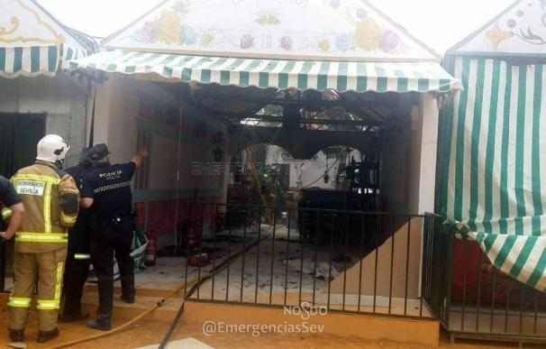 Sofocado un incendio en una caseta de la Feria de Abril sin heridos ni afectados