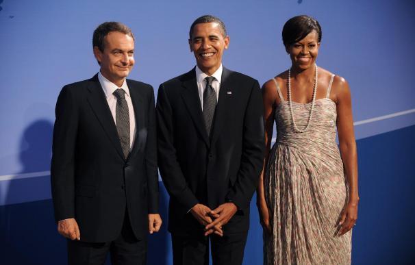 La Casa Blanca retira de su página web una foto con las hijas de Zapatero