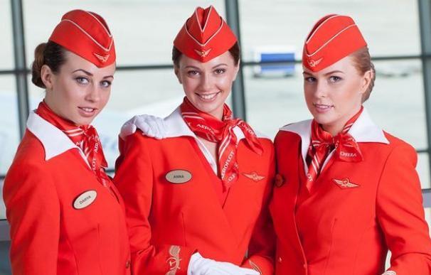 Las azafatas tipo que quiere Aeroflot.