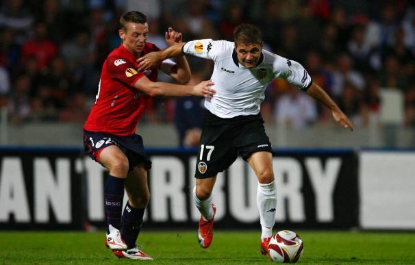 1-1. El Valencia estrena Liga Europa sin suerte ante el Lille, en un partido de fuerzas parejas