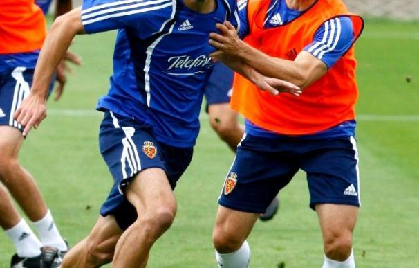 Angel Lafita se entrena por primera vez con el Real Zaragoza