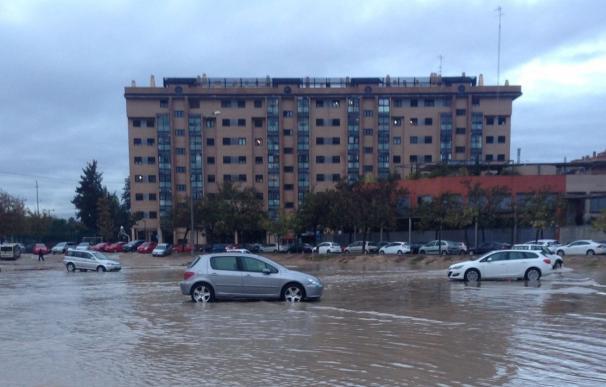El episodio de lluvias más intenso desde 2007 deja registros de hasta 129 litros por metro cuadrado en Valencia