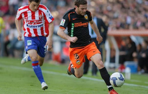 El Sporting sólo ganó cuatro veces en Mestalla pero la última fue el año pasado