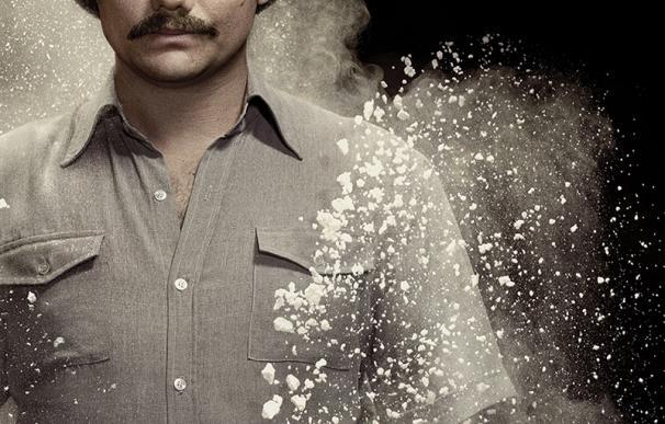 Imagen promocional de la serie Narcos, de Netflix, que cuenta la vida de Pablo Escobar