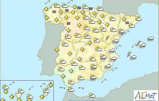 Mañana, chubascos fuertes y persistentes en Baleares y Comunidad Valenciana