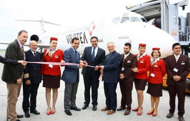 Volotea celebra la apertura de su nueva base operativa en Génova, la cuarta en Italia