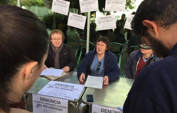 """Profesores asociados de la UV denuncian a la Unión Europea su """"precaria situación"""" y sueldos """"irrisorios"""""""