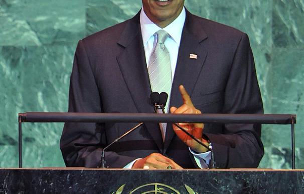 Obama, durante su intervención en la cumbre de Naciones Unidas sobre cambio climático.