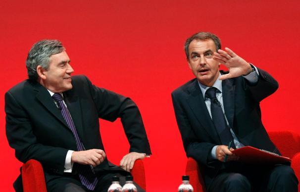 Zapatero pide en la cumbre Laborista ser fieles a los valores de la izquierda