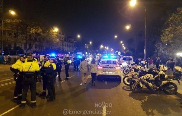 Detenidas tres personas por desorden público relacionadas con las carreras durante la Madrugá en Sevilla