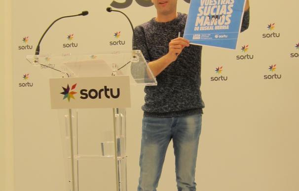 """Sortu llama a concentrarse el martes frente a las sedes del PP contra la """"corrupción rampante de este partido"""""""