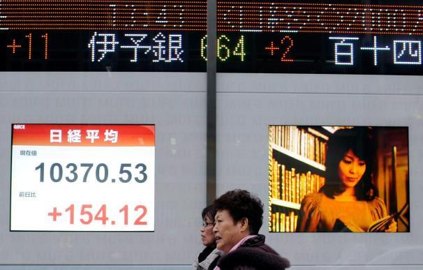 El Nikkei subió 76,76 puntos, el 0,73 por ciento, hasta 10.478,66 enteros