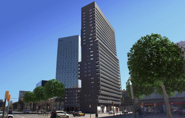 El rascacielos de Corp en la Diagonal de Barcelona empieza a recibir residentes