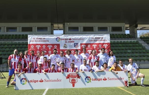 El Real Madrid golea (8-3) al Atlético en el Derbi de las Redacciones de LaLiga Santander