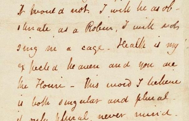 Subastan carta de amor del moribundo John Keats a su novia