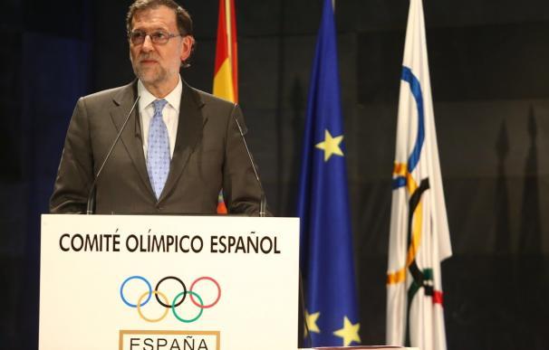 """Rajoy: """"Los deportistas representan un papel importante en la imagen exterior de España"""""""