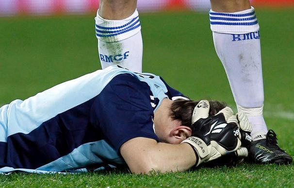 Casillas fue alcanzado por un objeto al final del encuentro