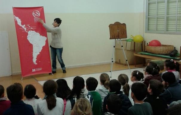 Unos 700 escolares han participado en el programa itinerante 'Érase una vez América' de la Diputación