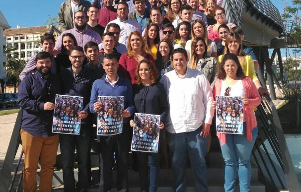 Jóvenes malagueños presentan su apoyo a la candidatura de Susana Díaz a la Secretaría General del PSOE