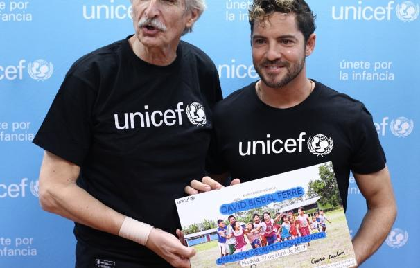 """David Bisbal, como embajador de UNICEF: """"Ojalá que llegue el momento en que no necesitemos de la ayuda de UNICEF"""""""