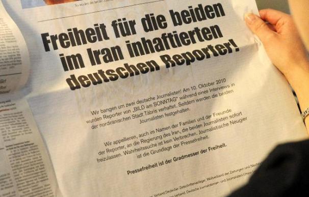 Los ministros de Justicia alemanes piden libertad para los reporteros presos en Irán