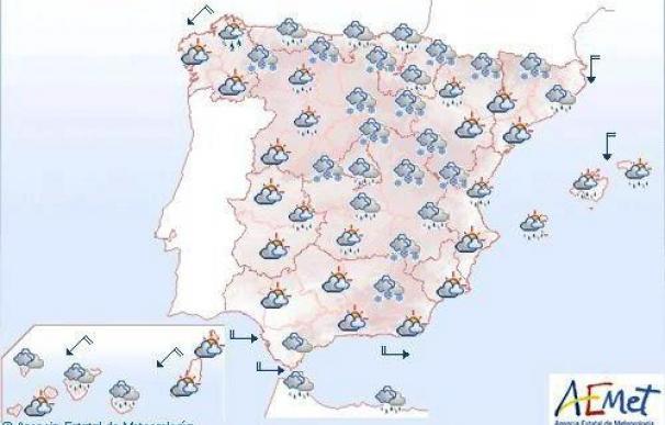 Se esperan lluvias persistentes en Canarias y nevadas en el centro y norte