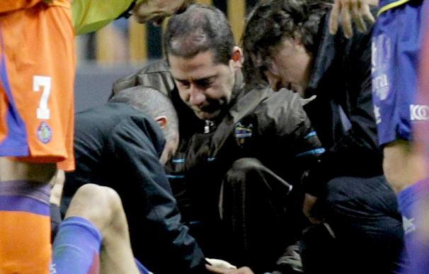Juanfran del Levante se recupera en casa de un esguince cervical y estará 48 horas de reposo