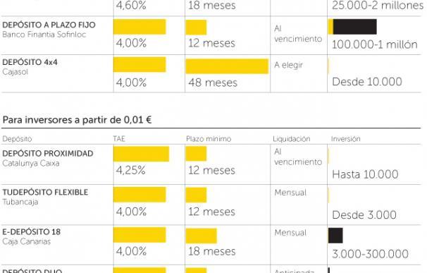 Los depósitos más rentables a enero de 2011