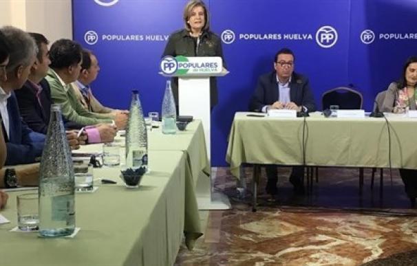 Fátima Báñez participado este sábado de un acto en Huelva.