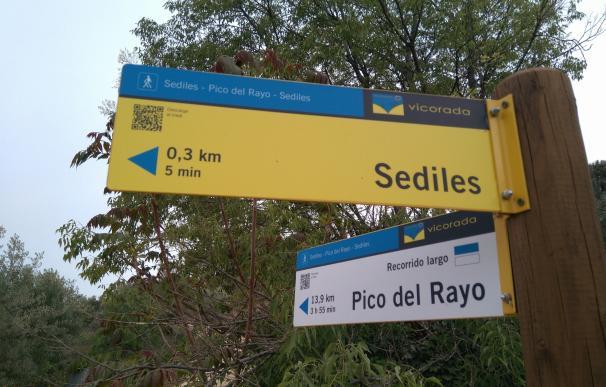 El Ayuntamiento de Sediles realiza la primera señalización de una ruta BTT en la Sierra Vicor con códigos QR