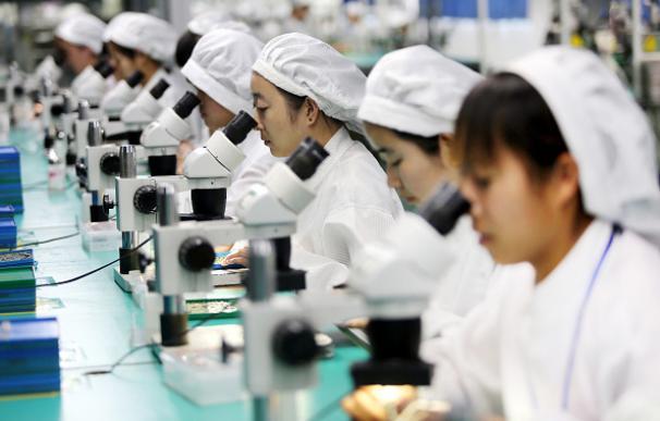China acelera y su economía crece un 6,9% en el primer trimestre del año. AFP