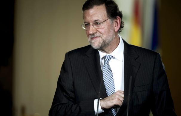 El presidente del Gobierno, Mariano Rajoy, tras la última reunión de 2012 del Consejo de Ministros.