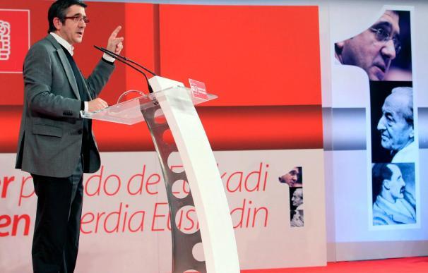 """López dice que el mito de que el PNV era el único capaz de gestionar """"ha caído"""""""