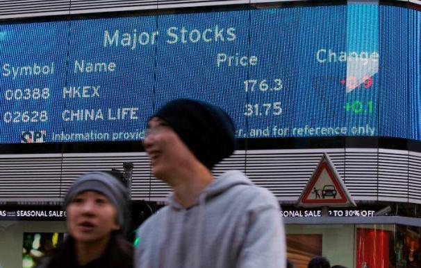 El índice Hang Seng baja 15,88 puntos,0,07% en la apertura, hasta 23.763,74