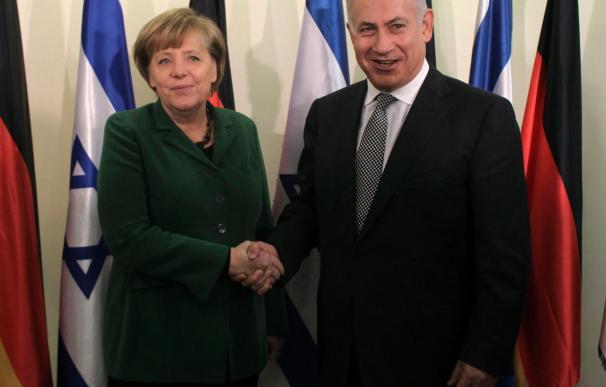 Merkel llega hoy a Israel al frente de una delegación de diez ministros
