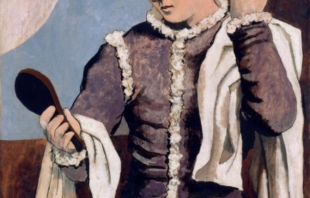"""El Thyssen 'descubre' cómo Picasso """"retuerce el cuello al clasicismo"""" en 'Arlequín con espejo'"""