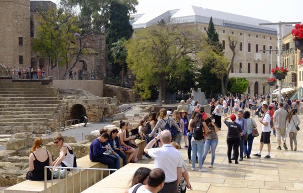 Andalucía recibe 1,8 millones de turistas internacionales hasta marzo, un 12,2% más